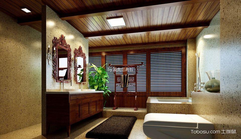 2018东南亚卫生间装修图片 2018东南亚浴缸装修设计