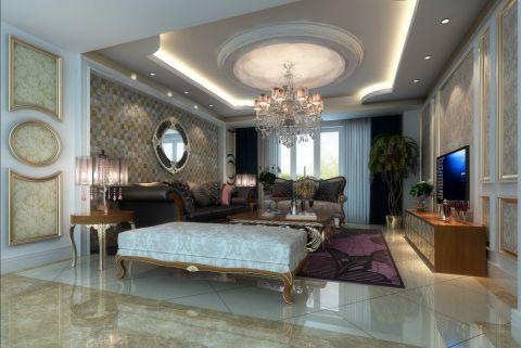 美加印象三居室欧式风格效果图案列