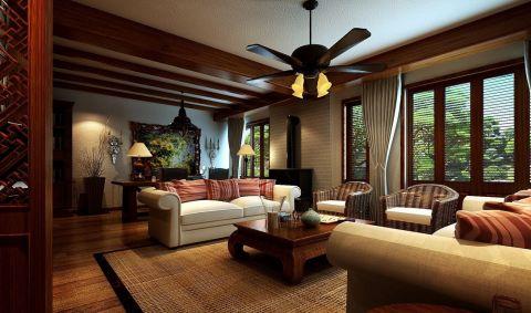 东南亚风格200平米公寓室内装修效果图