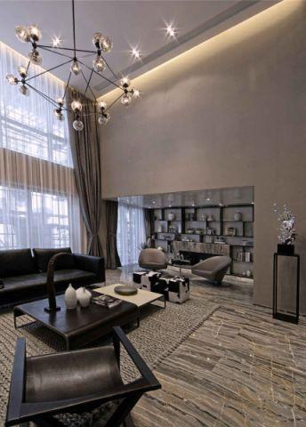 客厅紫檀木茶几后现代装潢效果图
