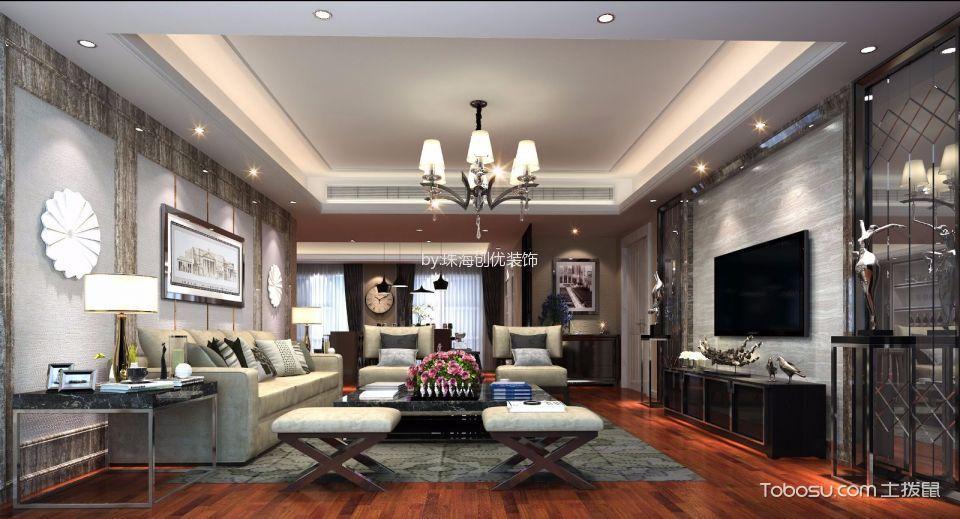 现代简约风格200平米大户型室内装修效果图