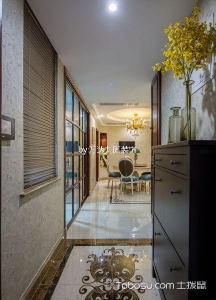 玄关白色门厅新古典风格装潢设计图片