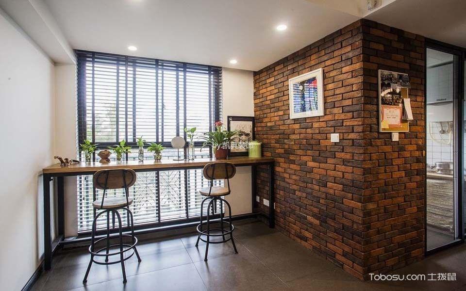阳台咖啡色吧台现代风格装修效果图