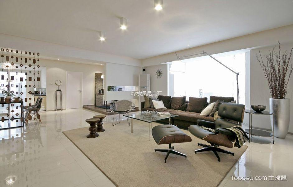 2018现代简约客厅装修设计 2018现代简约沙发装修图