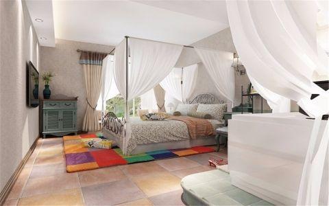 臥室灰色雙人床設計圖