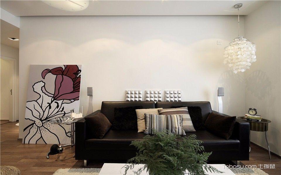 客厅白色灯具现代简约风格装饰效果图