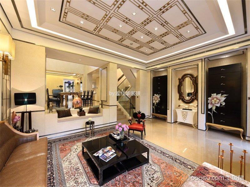 客厅白色榻榻米现代风格装饰效果图