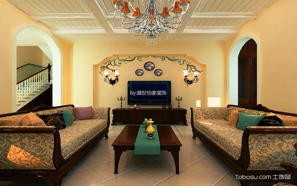 美式风格100平米楼房室内装修效果图