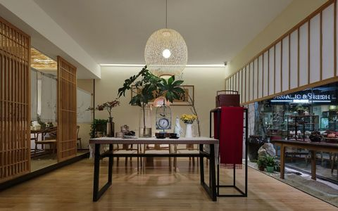 70平米茶館設計裝修實景圖