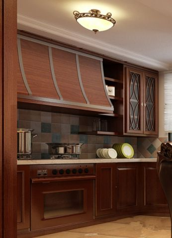 美式小厨房装修设计图片