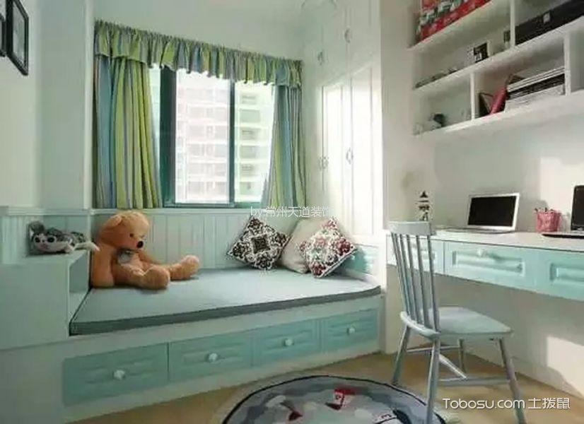 儿童房蓝色榻榻米地中海风格装饰效果图