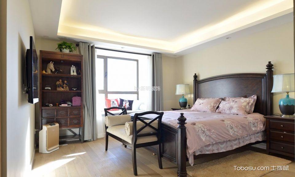 卧室米色飘窗北欧风格装饰图片