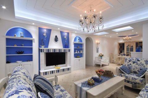 万丰丰泽园110平三居室地中海风格半包装修设计图