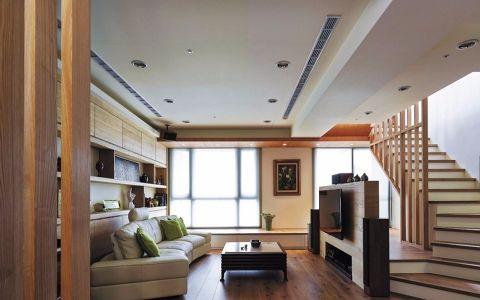 客厅小房间榻榻米日式平面图