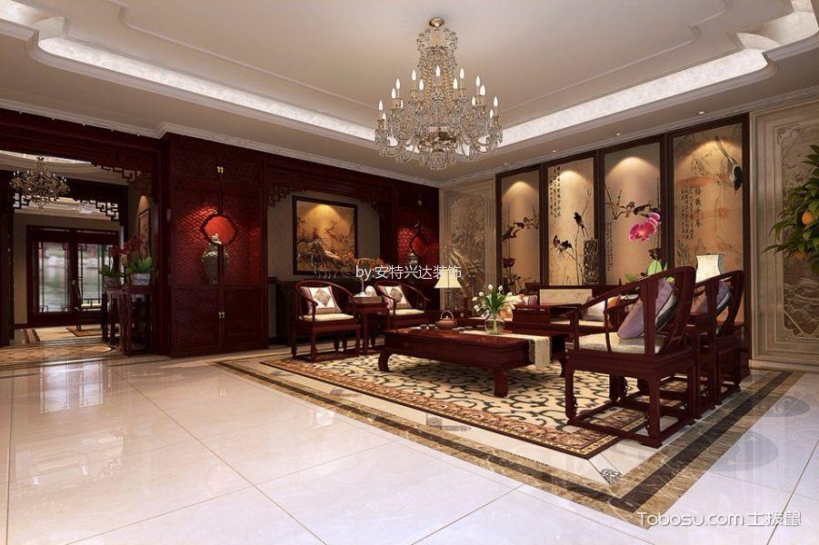 客厅白色吊顶中式风格装修设计图片图片
