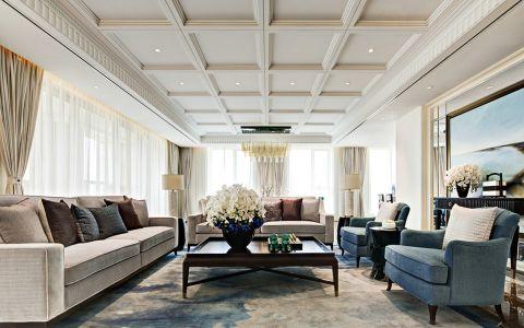 2021新古典90平米效果图 2021新古典三居室装修设计图片