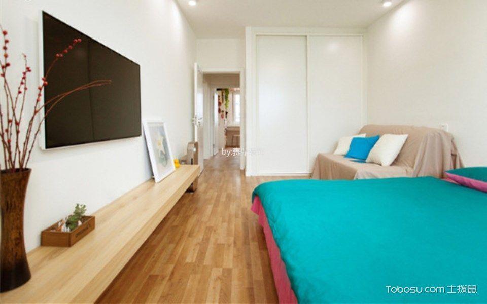 120平米简约风格两居室装修效果图
