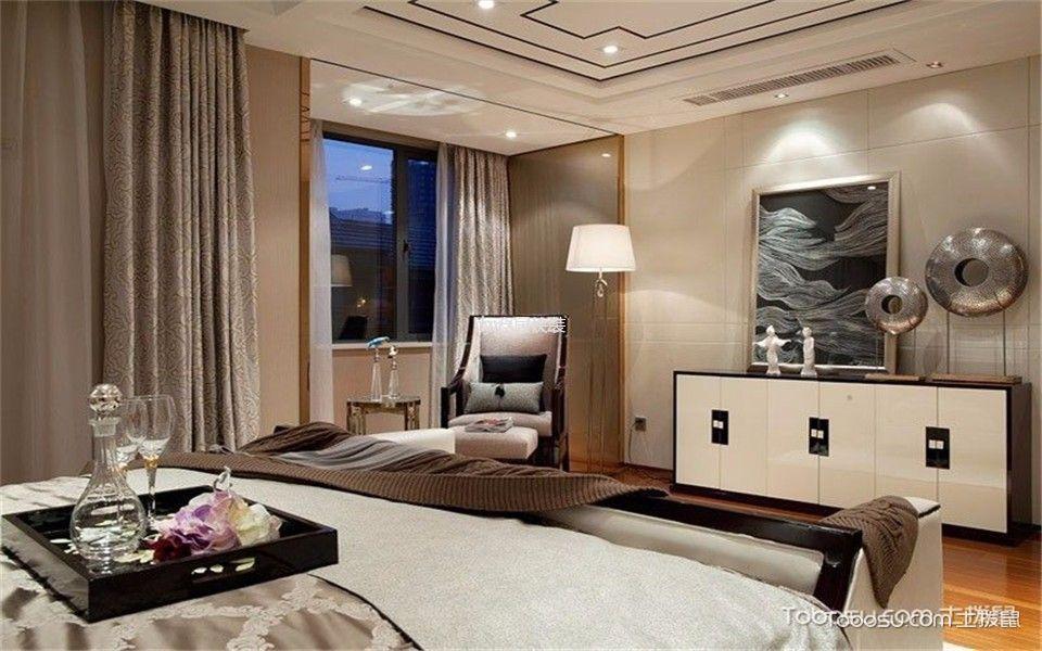 卧室白色电视柜新中式风格装饰设计图片