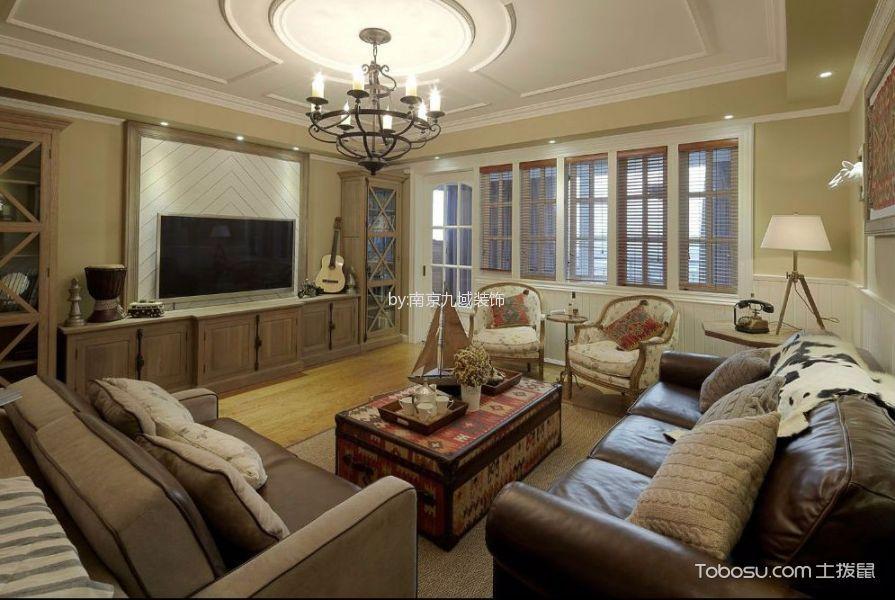 地中海风情三室一厅装修效果图图片