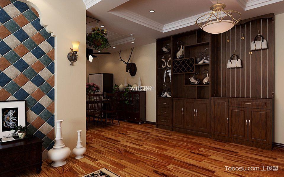 客厅橙色走廊美式风格装饰设计图片
