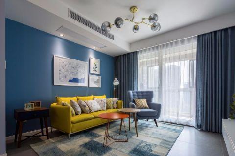 原树提香两室一厅混搭风格效果图