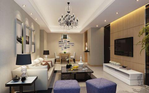现代清新两室橙翠园装修效果图