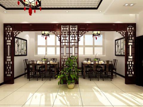 新郑龙湖郑老庄社区中式风格饭店装修效果图