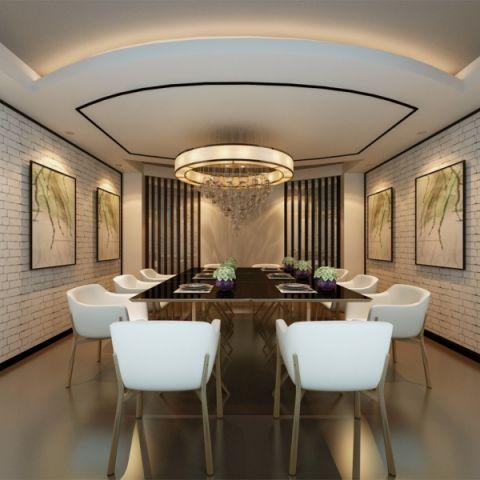 闻汇大厦新中式风格茶楼装修效果图