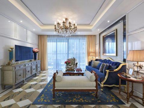 滨湖世纪城120平米欧式风格三居室装修效果图
