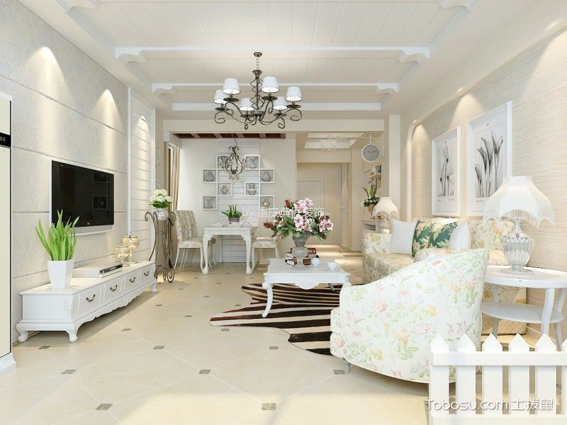 2021韩式240平米装修图片 2021韩式三居室装修设计图片