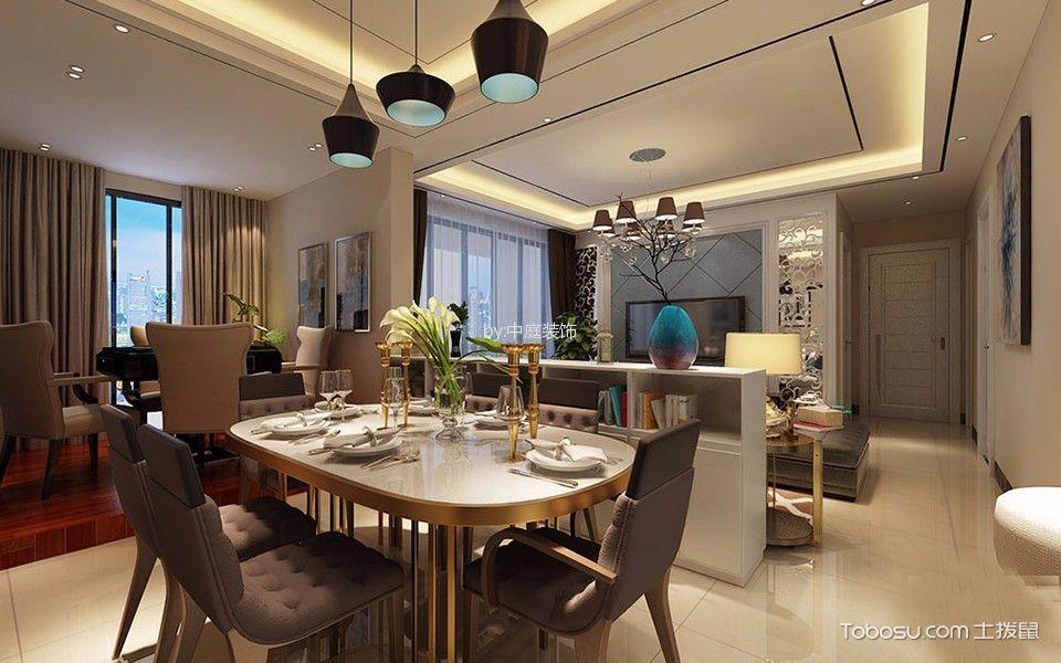 南宁钱隆江南108平米现代风格三居室装修效果图