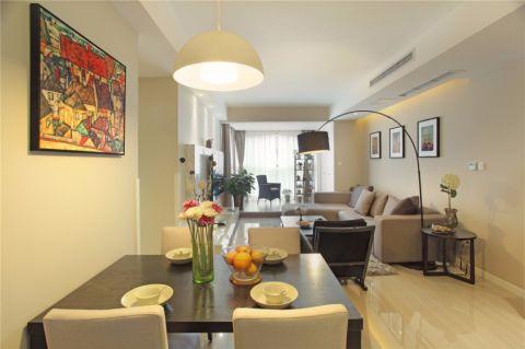 海亮九玺两室一厅现代简约风格效果图