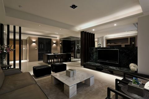 后现代风格200平米大户型室内装修效果图