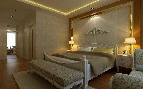 臥室白色雙人床家裝設計