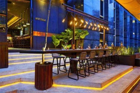 闹市中的意式餐厅500平米混搭风装修效果图