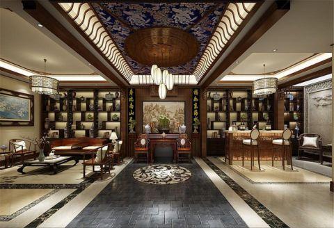 华贸东滩花园独栋别墅装修新中式风格设计方案展示,上海腾龙别墅设计师周峻作品,欢迎品鉴!