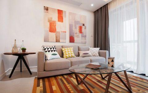 深圳六合城现代简约装修三室两厅案例图
