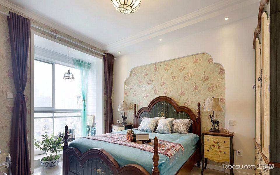 地中海卧室背景墙设计图片