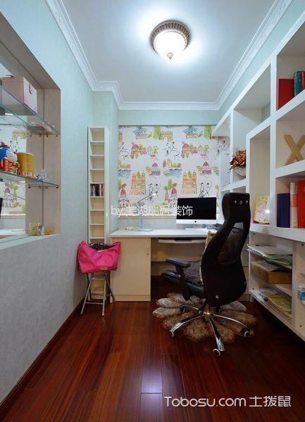 书房白色吧台美式风格装饰设计图片