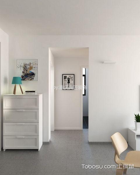客厅灰色地砖现代风格装修设计图片