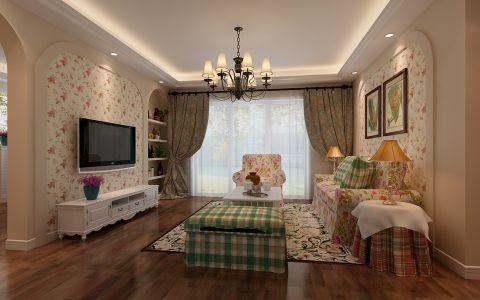 福贵苑160平米田园风格四室两厅装修效果图