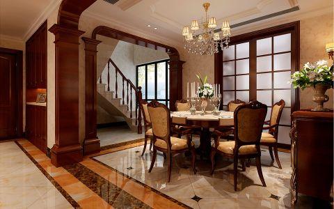 天下锦城200平米欧式风格复式住宅装修效果图