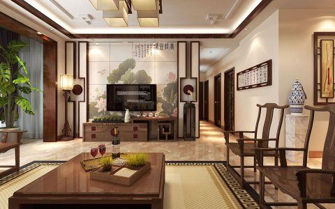 完美客厅中式电视墙案例图片