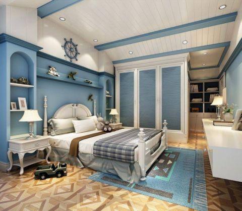 臥室白色雙人床平面圖