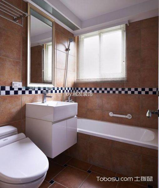 卫生间彩色窗台现代风格装饰图片