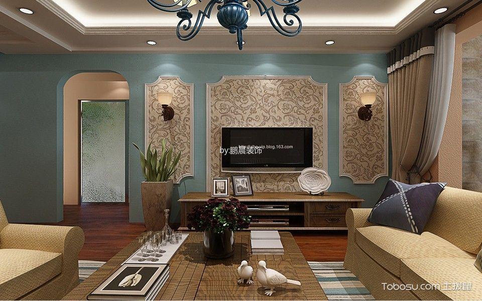 优雅地中海绿色背景墙设计图片