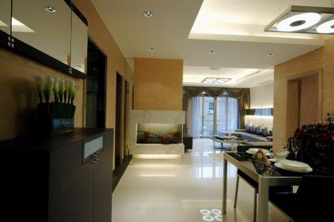 2020现代简约90平米效果图 2020现代简约四居室装修图