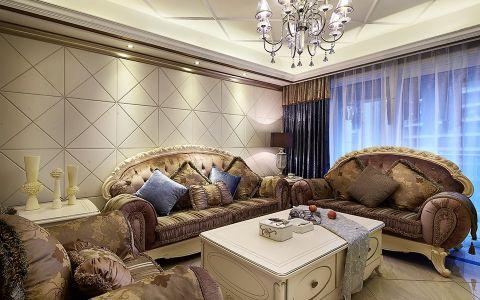 2020欧式120平米装修效果图片 2020欧式三居室装修设计图片