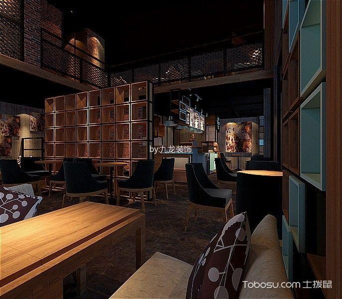 东莞85平极致咖啡厅装修效果图