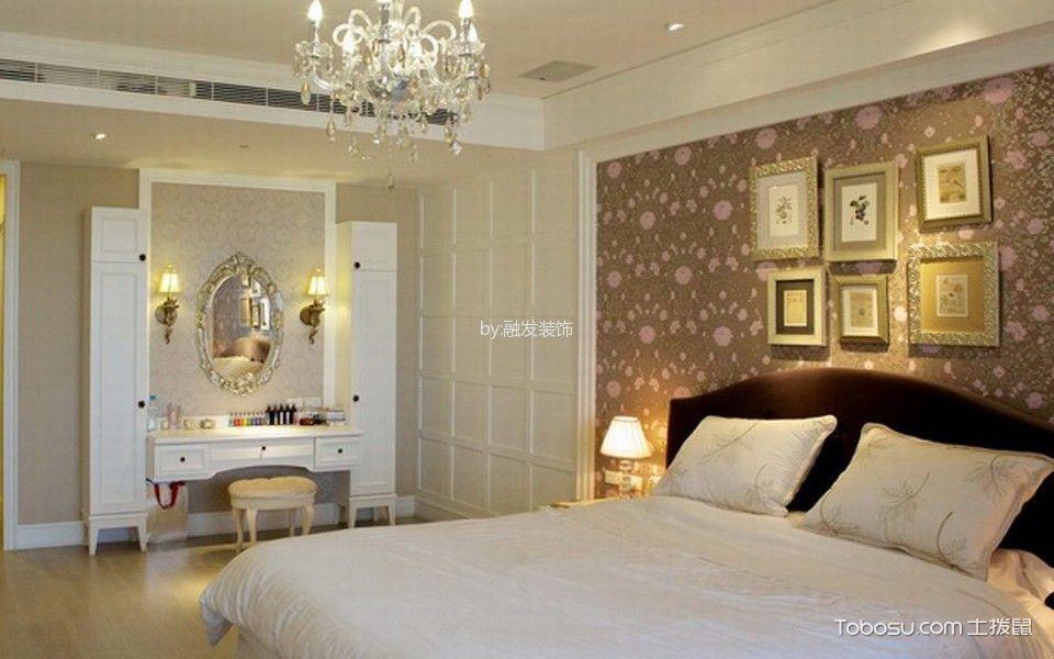 卧室彩色照片墙美式风格装潢设计图片